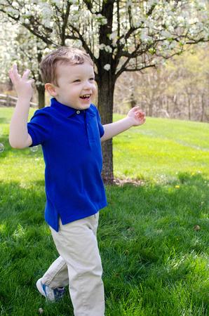 Little Boy Running - Lifestyle Photography