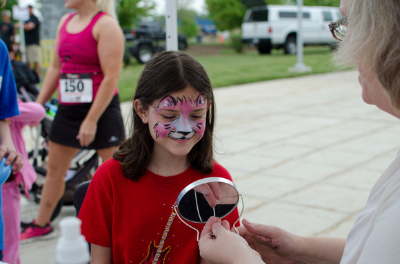Power Walk Dress for Success 2015 Face Painting For Kids
