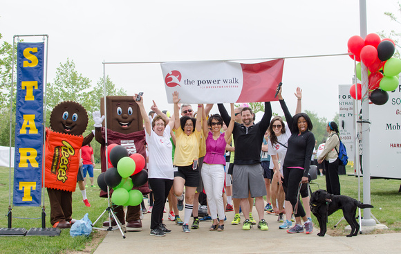 The Starting Line for Dress for Success Power Walk, Central, PA 2015