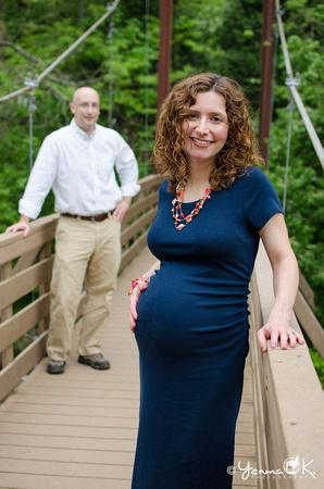 Maternity Couple Pose Messiah College, PA
