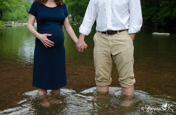 Water Maternity Portrait Messiah College