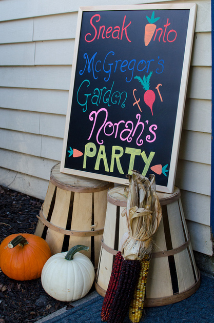 Birthday Party Sign for Norah's One Year Old Garden Party