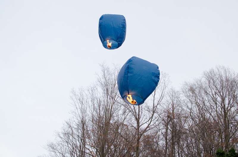 Paper Lanterns in the Air