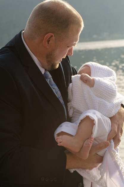Father and Son Baptism Portrait
