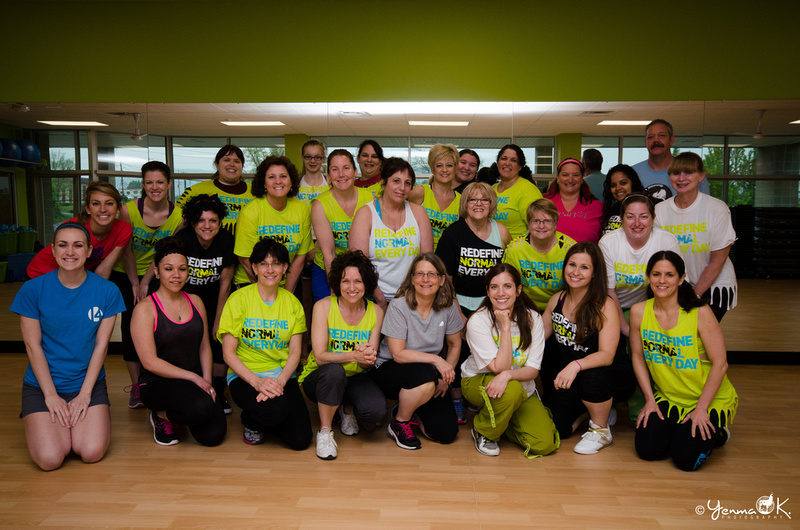 Group picture before the Zumbathon began at Progress Fitness.