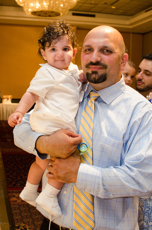 Father and Son at Baptism reception