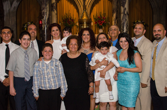 Large family portrait after Baptism
