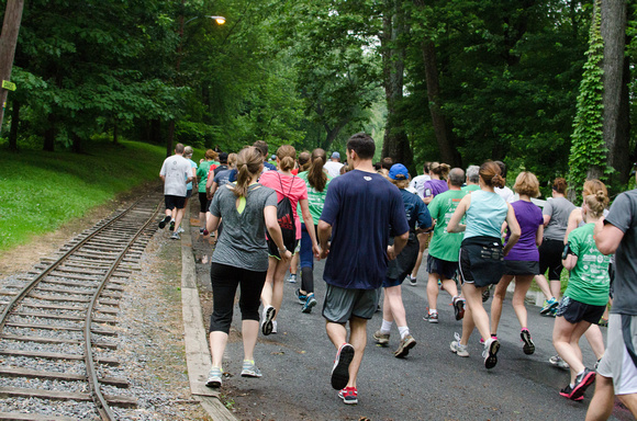 The Beginning of the Harrisburg Pasta 5k Run