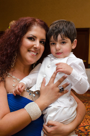 Mother and Son at his baptism
