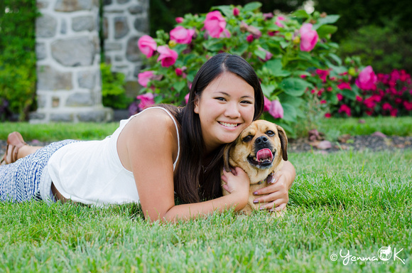Senior Portrait with Puppy Middletown, PA