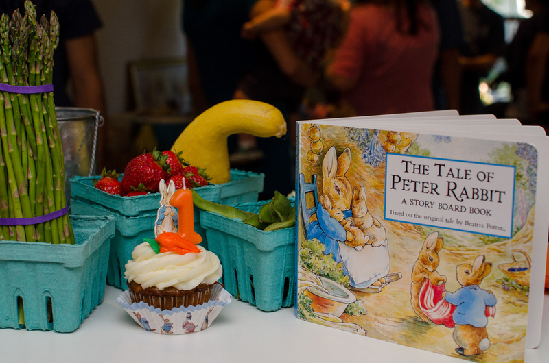 Peter Rabbit Themed Birthday Cupcake