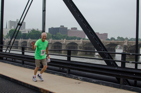 Older Gentleman participates in the Harrisburg Pasta 5k Run 2014