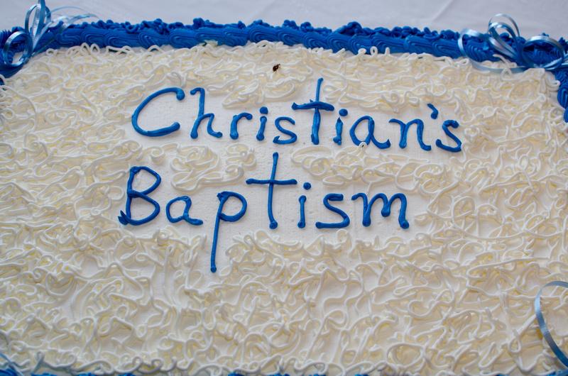Baptism Cake for Christian