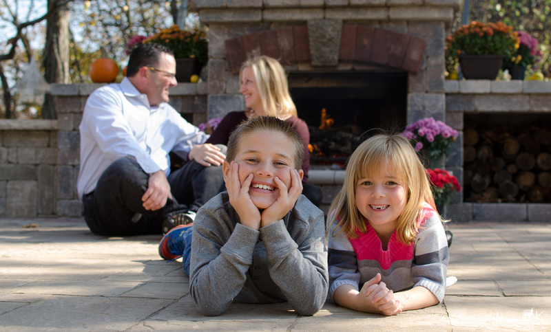 Autumn Themed Children Portraits in front of the Fireplace