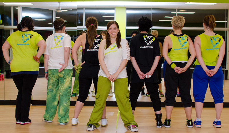 Zumba Instructors showing off their #TeamPerry tshirts.