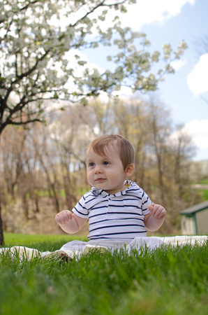 10 Month Old Outdoor Portrait