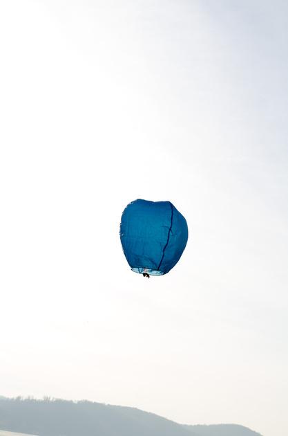 Paper Lantern Glides over the Susquehanna River
